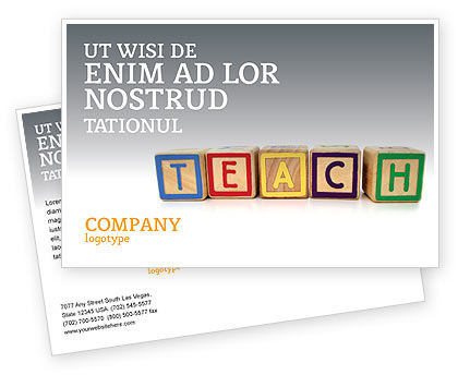 Education & Training: Teaching Postcard Template #03696