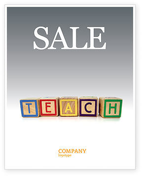 Teaching Sale Poster Template, 03696, Education & Training — PoweredTemplate.com