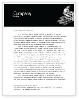 Family Bonds Letterhead Template, 03701, Religious/Spiritual — PoweredTemplate.com
