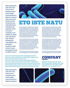 Bacteriology Flyer Template, 03702, Medical — PoweredTemplate.com