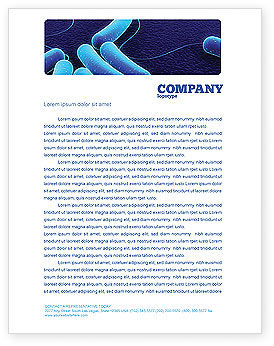 Medical: Bacteriology Letterhead Template #03702