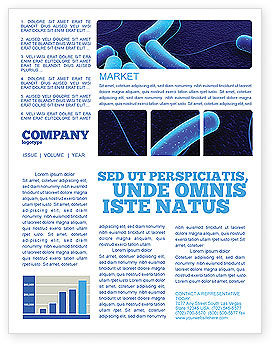 Medical: Bacteriology Newsletter Template #03702