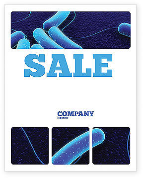 Bacteriology Sale Poster Template, 03702, Medical — PoweredTemplate.com