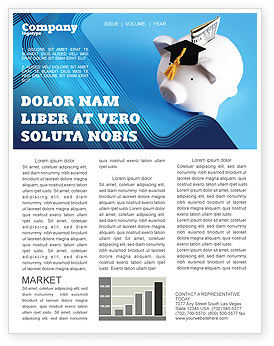 Education Costs Newsletter Template, 03703, Financial/Accounting — PoweredTemplate.com