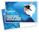 Financial/Accounting: Education Costs Postcard Template #03703