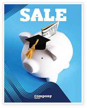 Education Costs Sale Poster Template, 03703, Financial/Accounting — PoweredTemplate.com