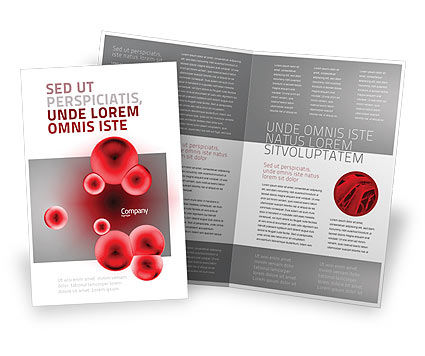 Erythrocytes Brochure Template, 03708, Medical — PoweredTemplate.com