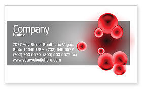 Erythrocytes Business Card Template, 03708, Medical — PoweredTemplate.com