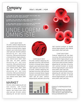 Erythrocytes Newsletter Template, 03708, Medical — PoweredTemplate.com