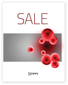 Erythrocytes Sale Poster Template, 03708, Medical — PoweredTemplate.com