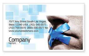 Silence Business Card Template, 03710, Consulting — PoweredTemplate.com
