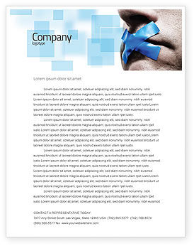 Silence Letterhead Template, 03710, Consulting — PoweredTemplate.com