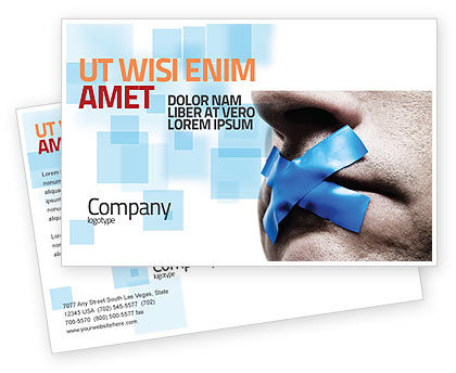 Consulting: Silence Postcard Template #03710