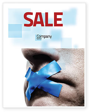 Consulting: Silence Sale Poster Template #03710