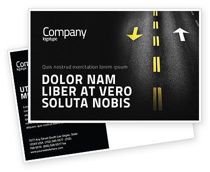 Trend Postcard Template, 03712, Cars/Transportation — PoweredTemplate.com