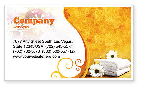 Bath Towels Business Card Template