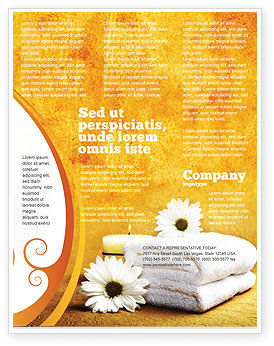 bath towels flyer template background in microsoft word publisher