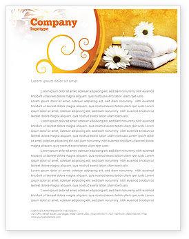 Careers/Industry: Bath Towels Letterhead Template #03713