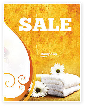 Bath Towels Sale Poster Template, 03713, Careers/Industry — PoweredTemplate.com