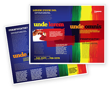 Various Colors Of Paint Brochure Template, 03714, Art & Entertainment — PoweredTemplate.com