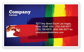 Various Colors Of Paint Business Card Template