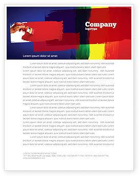 Art & Entertainment: Various Colors Of Paint Letterhead Template #03714