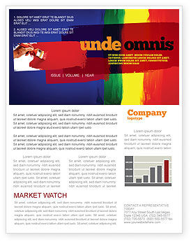 Various Colors Of Paint Newsletter Template, 03714, Art & Entertainment — PoweredTemplate.com