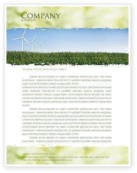 Nature & Environment: Modelo de Papel Timbrado - moinhos de vento #03715
