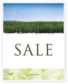 Wind Mills Sale Poster Template