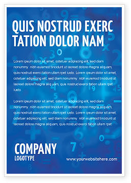 Education & Training: Blue Numbers Ad Template #03718