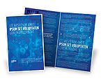 Education & Training: Modello Brochure - Numeri blu #03718
