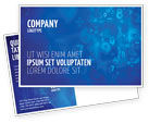 Education & Training: Blue Numbers Postcard Template #03718
