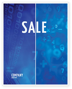 Blue Numbers Sale Poster Template, 03718, Education & Training — PoweredTemplate.com