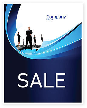 Leadership Program Sale Poster Template, 03720, Business Concepts — PoweredTemplate.com