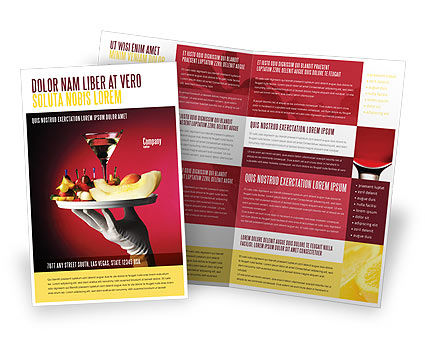 Snacks and Cocktail Brochure Template, 03722, Careers/Industry — PoweredTemplate.com
