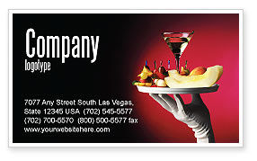 Careers/Industry: Snacks and Cocktail Business Card Template #03722