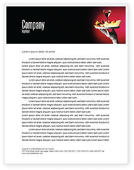 Careers/Industry: Snacks and Cocktail Letterhead Template #03722