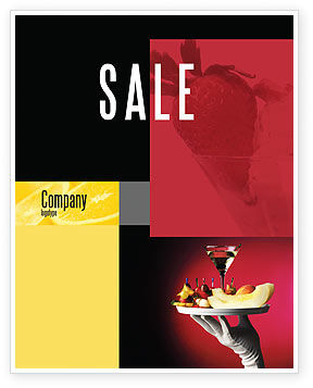 Snacks and Cocktail Sale Poster Template, 03722, Careers/Industry — PoweredTemplate.com