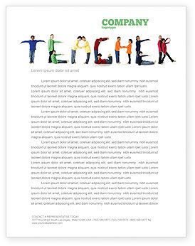 Teacher of Class Letterhead Template, Layout for Microsoft Word ...