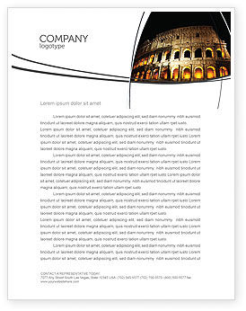 Construction: Coliseum Letterhead Template #03724