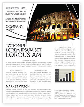 Coliseum Newsletter Template, 03724, Construction — PoweredTemplate.com