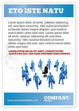 Leader Seat Ad Template, 03726, Business — PoweredTemplate.com