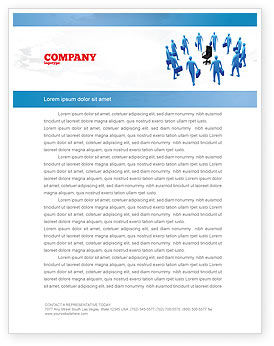 Business: Leader Seat Letterhead Template #03726