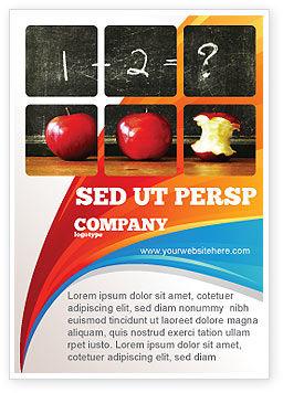 Arithmetic In School Ad Template, 03728, Education & Training — PoweredTemplate.com