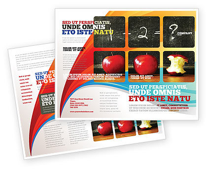 Arithmetic In School Brochure Template Design And Layout Download - School brochure templates