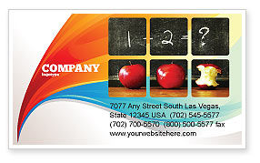 Education & Training: Arithmetic In School Business Card Template #03728