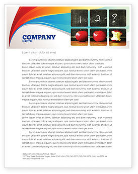 Arithmetic In School Letterhead Template, 03728, Education & Training — PoweredTemplate.com