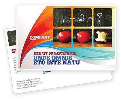 Education & Training: Arithmetic In School Postcard Template #03728