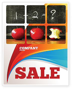 Education & Training: Arithmetic In School Sale Poster Template #03728