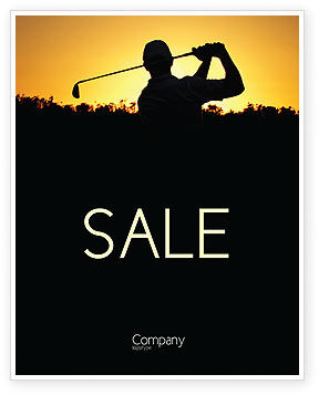 Golf Game On The Sunset Sale Poster Template In Microsoft